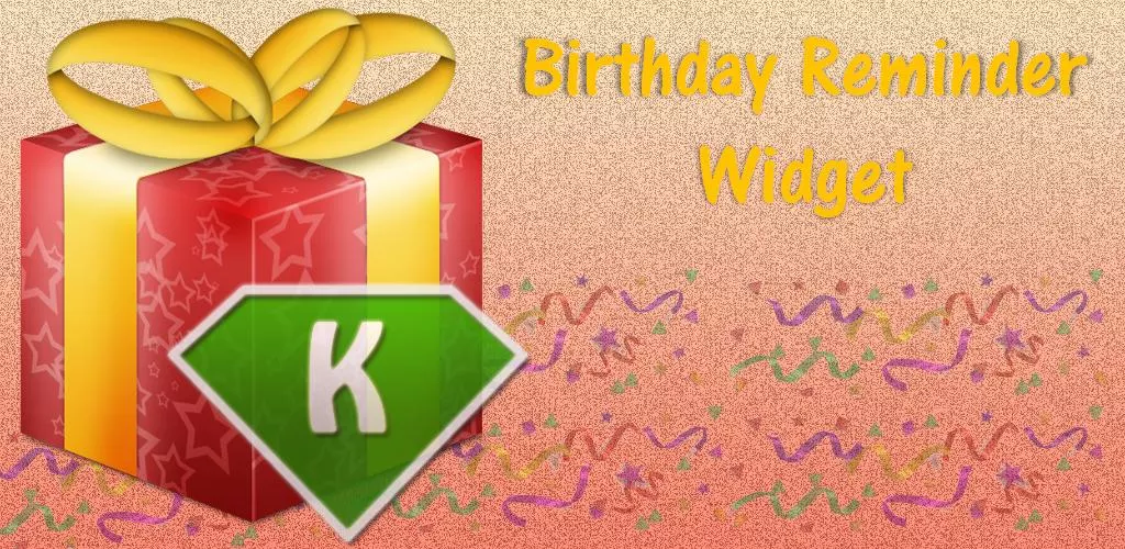 Birthday Reminder Widget